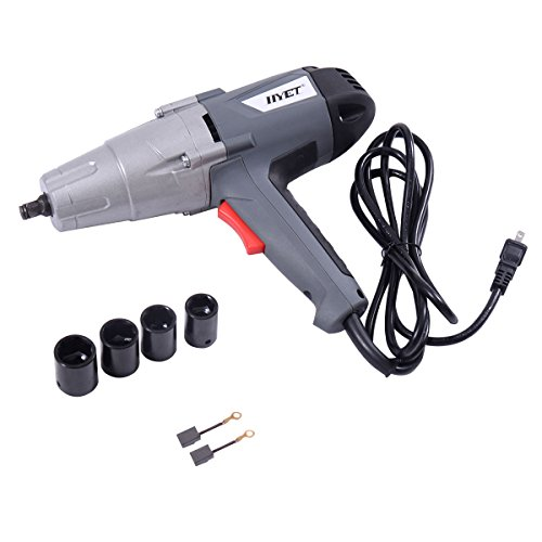 """Goplus 1/2"""" Electric Impact Wrench Gun Kit 2500 RPM w/ Sockets and Case"""