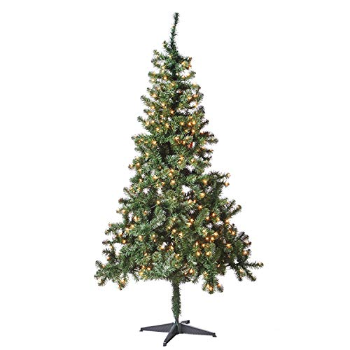 Holiday Time 6.5ft Pre-Lit Madison Pine Artificial Christmas Tree with 350 Clear-Lights - - 350 Clear Tips Lights