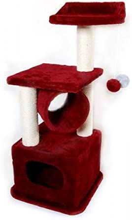 Cat Rascador para gatos Big Número 6, cubierto con postes de ...