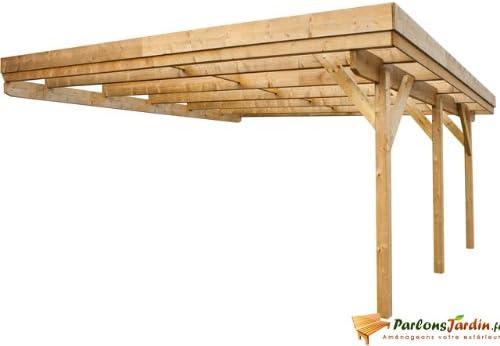 Carport 2 coches de madera para adossant Evolution 31,26 m² ...