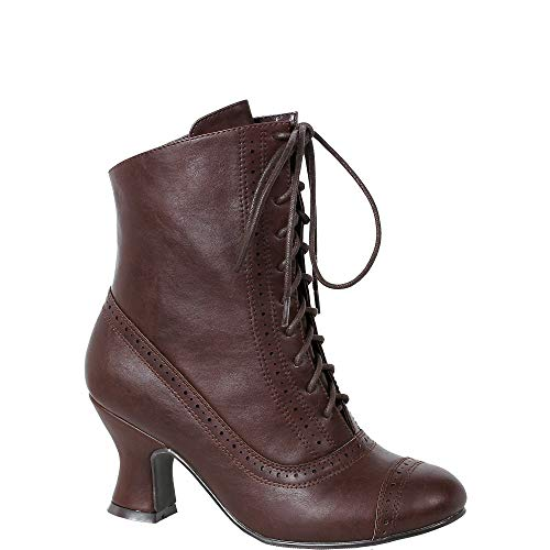 Sarah Brown Victorian Boots, Costume Shoes for Women,