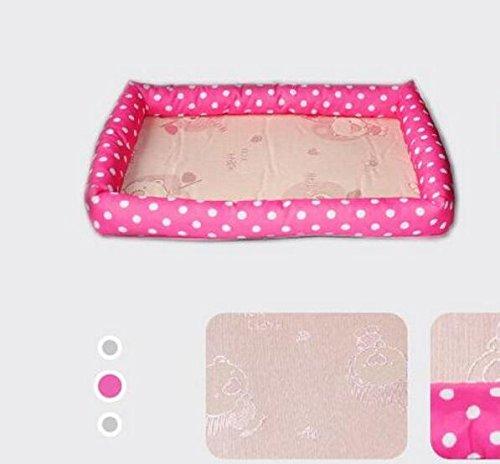 Sun Glower Coperta delle forniture dell'animale Dog Supplies Summer Cool Mattress Kennel Pet Bed Cat Litter (colore  rosa, Taglia  M)