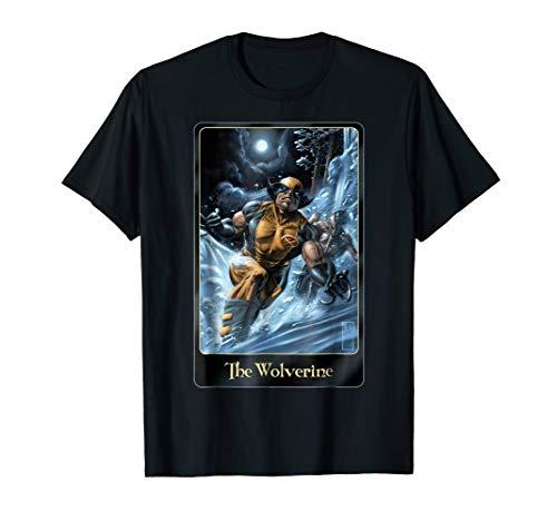 Marvel Comic Wolverine Moon light Card Art Graphic T-Shirt