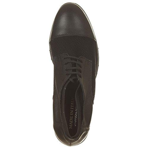 VialeScarpe Ers-771rtne_36 - Zapatos de cordones de Piel para mujer negro negro 36 negro