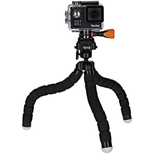 Rollei Monkey Pod - Adaptive Mini Tripod for Traveling with flexible legs, incl. ball head and quick release plate - Black