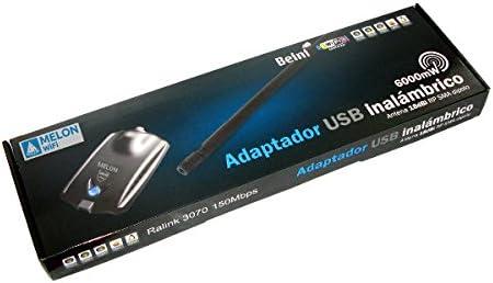 ADAPTADOR USB MELON 6000MW RALINK 3070L ANTENA WIRELESS WIFI ...