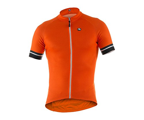 (Giordana 2015 Men's Fusion Short Sleeve Cycling Jersey, Fluo Orange, Large)