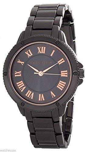 Anne Klein Womens Dark Grey Dial Gunmetal Tone Bracelet Watch AK/2073GYRT