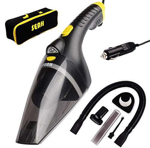 Seah Portable Car Vacuum Cleaner 12V 106W with 16 Foot Cable High Power Wet Dry Use Auto Vacuum Cleaner