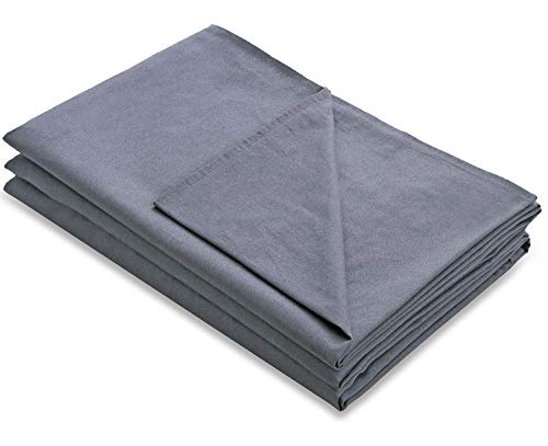 Amy Garden Premium Duvet Covers Cotton Removable Cover for Weighted Blanket Inner Layer,Grey - 48x72 (Duvet Cover ONLY)