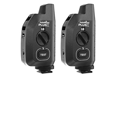 PocketWizard 801-329 Plus X Transceiver, Pack of 2 (Black) by PocketWizard