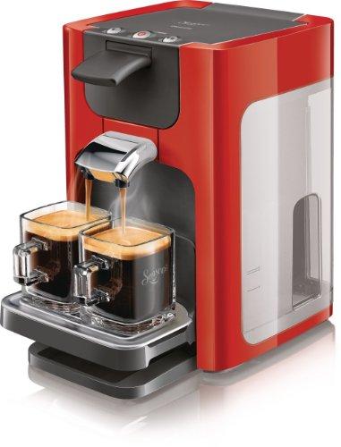 Senseo HD7863/80 Quadrante Kaffeepadmaschine (XL-Wassertank) rot