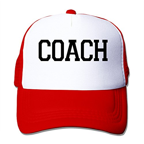 Unisex Coach Adjustable Trucker Hat Red