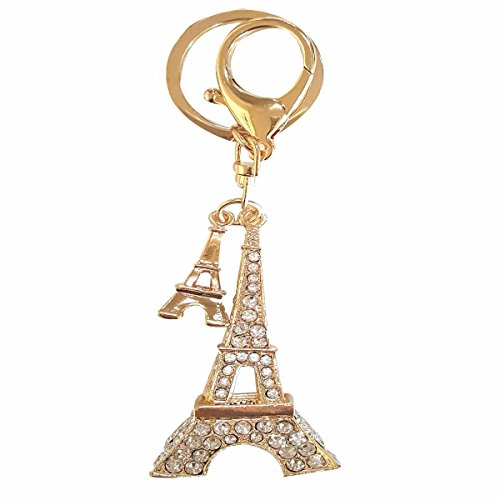 The EiffelTower Pendant Jewel Cool KeyChain Ring Holder Accesories Crystal Purse Bag Key Ring Car Chain decorations For Women - Mobile Names List Usa Shop In