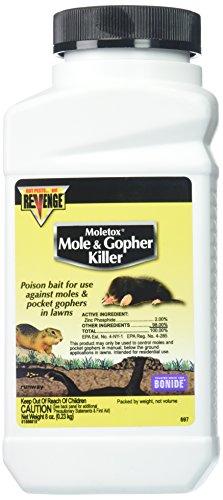 - Bonide Chemical Moletox II Mole and Gopher Killer, 8-Ounce