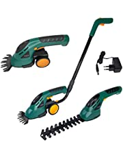 LZQ accugrasschaar, struikschaar, set 2-in-1, incl. wielen en handgreep, grasmaaier & elektrisch tuingereedschap, grasschaar, struikrimmer, heggenschaar