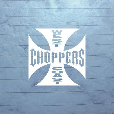 ADHESIVE VINYL LAPTOP WEST COAST CHOPPERS NOTEBOOK ART BIKE STICKER HOME DECOR WALL MACBOOK CAR WIDE GIANT WHITE (Chopper Stickers)