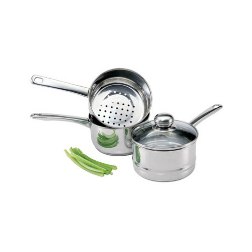 (Culinary Edge 08813 Stainless Steel Steamer and Boiler Set )