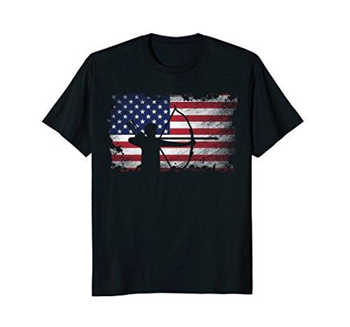 Archery T Shirt American Flag USA Patriotic Player Gift