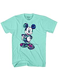Disney Mickey Mouse Tropical Mint Green Disneyland World Tee Funny Humor Adult Mens Graphic T-shirt Apparel (Green, Medium)