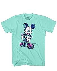 Disney Mickey Mouse Tropical Mint Green Disneyland World Tee Funny Humor Adult Mens Graphic T-shirt Apparel (Green, Medium)