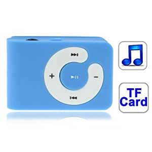 TF (Micro SD) Card Slot MP3Player With Clip (Baby Blue)