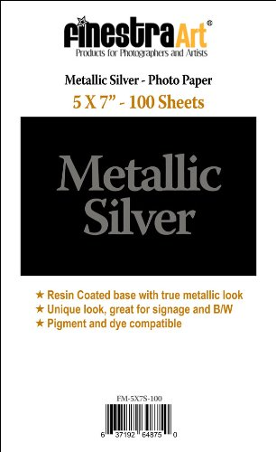 "5""X7"" 100 Sheets Metallic Silver Inkjet Photo Paper [Office Product]"