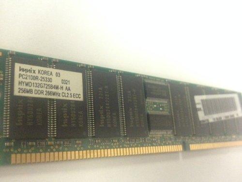 (Hynix 256MB PC2100 266Mhz DDR ECC CL2.5 SDRAM Memory Module for Servers Desktops etc - Refurbished - HYMD132G725B4M-H)