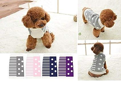 Ropa de Perro Jerseys de Punto de Lana Suéter Cálido Alto Cuello Alta calidad Para Mascotas