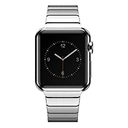 KADES Solid Stainless Steel iWatch Band Link Bracelet for 42mm Apple Watch Sport Edition (1st Generation, Silver)