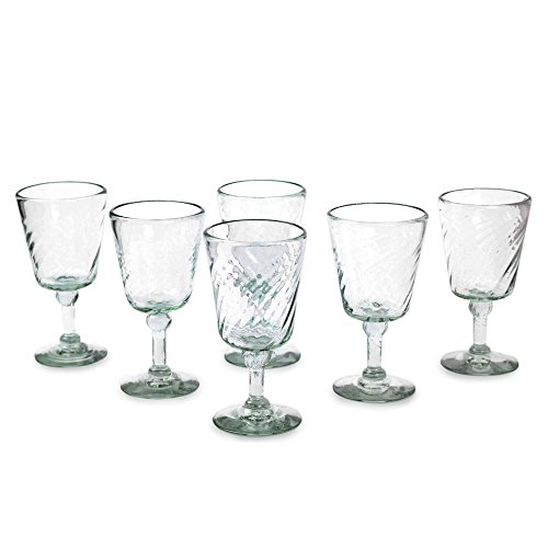 NOVICA Hand Blown Clear Recycled 15759