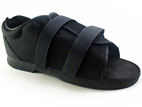 Shoe Post-Op Classic Women Black, Shoe Size - 6.5-8 - Medium