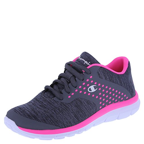 Champion Girls' Grey Pink Jersey Girls' Gusto Cross Trainer 4 Regular