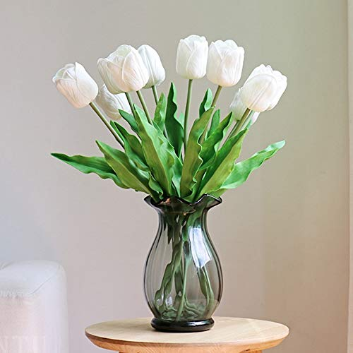 ulip Flowers for Party Home Wedding Decoration (Large White) ()