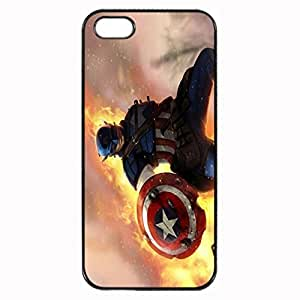 Captain America Custom Image Case iphone 4 case , iphone 4S case, Diy Durable Hard Case Cover for iPhone 4 4S , High Quality Plastic Case By Argelis-sky, Black Case New