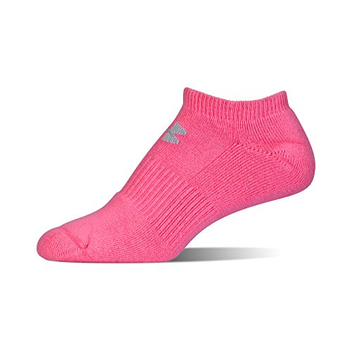 Under Armour Charged Cotton 2.0 No Show Socks, 6 Pairs, Pink Assorted, Medium by Under Armour (Image #4)