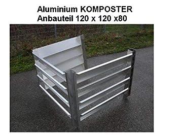 Compostador Cultivo notebook 120 x 120 x 80 (tamaño interior) de aluminio resistente a