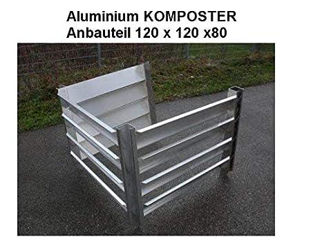 Compostador Cultivo notebook 120 x 120 x 80 (tamaño interior) de aluminio resistente a las inclemencias del tiempo, metal: Amazon.es: Jardín
