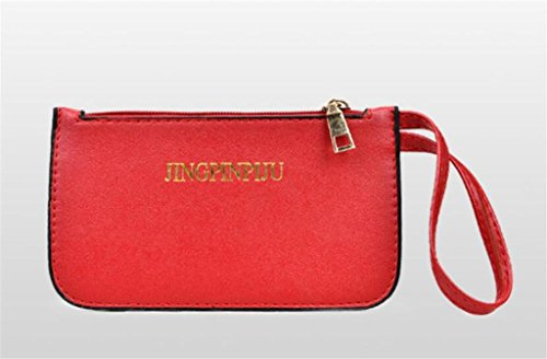 Red Single Sac Diablotin Portable Travers Femmes Main Wallet Shoulder Pièces Grand Trois Trousse Le Shoutibao À 7x10qZF0