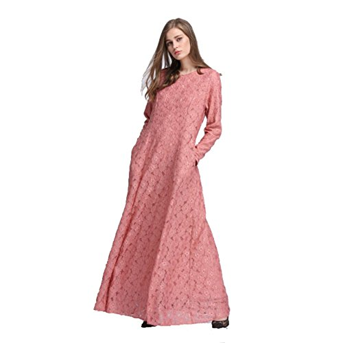 Cocohot New Arabian Ladies Robe Lace Dress Gown Muslim Women Dress Costume - Muslim Costume For Female