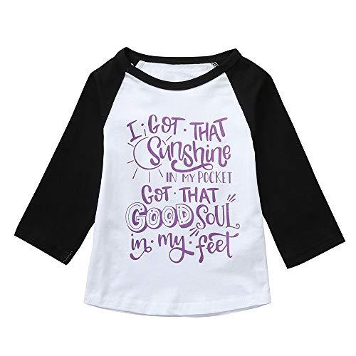 Tee World Organic Cotton (Pumsun ❤️ Children Kids Boys Girls Long Sleeve Cartoon Letter Print Top T-Shirt Clothes (100, White))