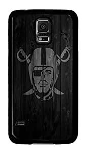 Samsung Galaxy S5 Case, S5 Case - Cool Design Wood Raiders Pattern Polycarbonate Hard Case Cover for Samsung Galaxy S5 I9600 Black