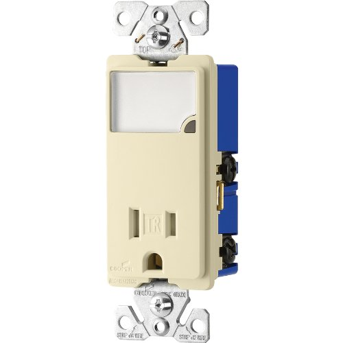 (Cooper Wiring Devices 15-Amp Almond Decorator Single Electrical Outlet TR7735A-K-L)