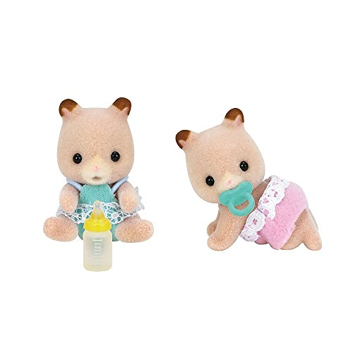 Calico Critters Fluffy Hamster Twins Dolls Set
