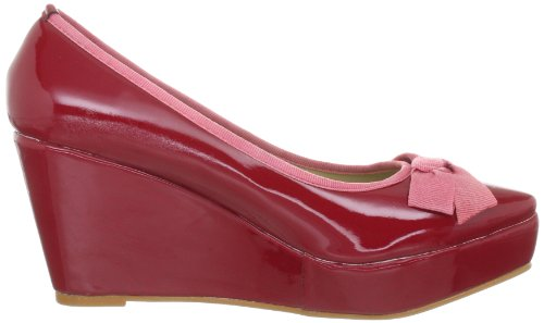 Zap Crocodile, Women's Shoes Red - Rot (Patent Dk Red 9 + Paspel & Schleife Pink 8)