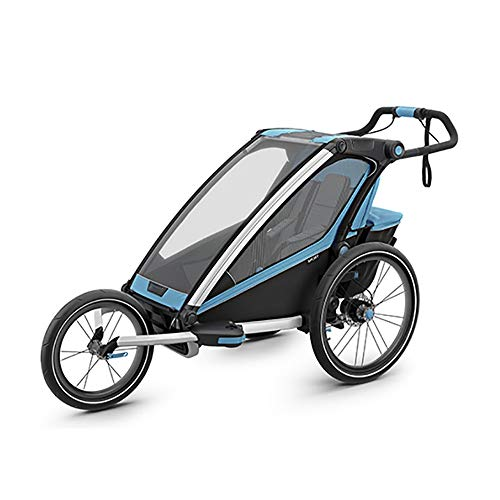 Bishelle-baby One Seat Foldable Tow Behind Bike Trailers,Converts to Stroller Jogger,Featuring 2-in-1 Canopy for Kids…
