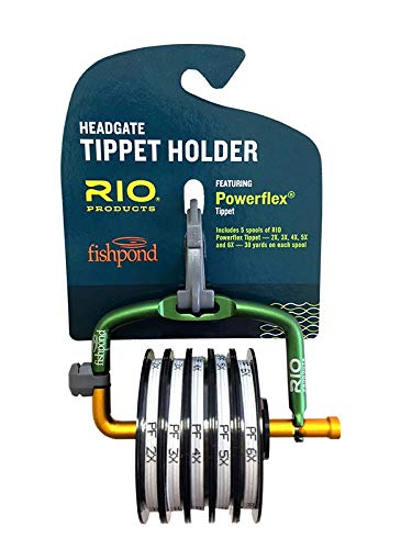 Tippet Pack - Rio Fly Fishing Tippet Head gate with 2X~6X-PowerfleX-Tippet Fishing Tackle, Clear