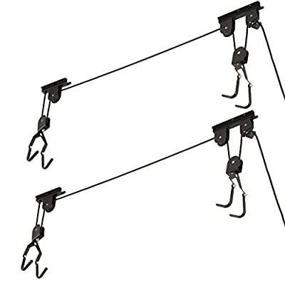 Racor Bike Lifts Ceiling Mounted Bicycle Holder Storage Rack For Garage Home