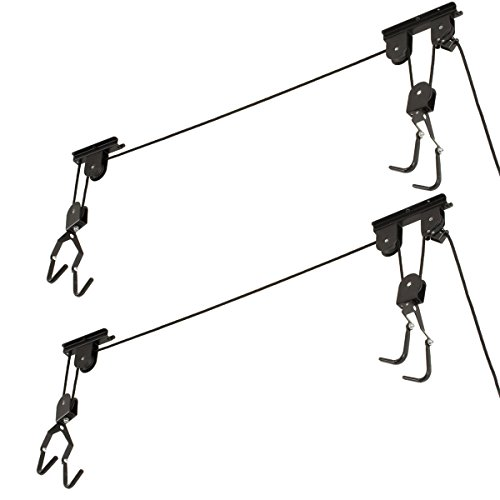 [해외]Racor 자전거 리프트 차고 홈 천장 마운트 자전거 보관 랙/Racor Bike Lifts Ceiling Mounted Bicycle Holder Storage Rack For Garage Home
