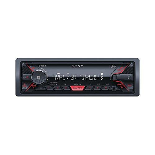 Sony DSX-A400BT Mechaless Autoradio (Bluetooth, NFC, USB/AUX Anschluss, Apple iPod/iPhone Control, Freisprechfunktion und integriertes Mikrofon) schwarz